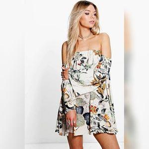 Dresses & Skirts - Floral Off The Shoulder Woven Dress